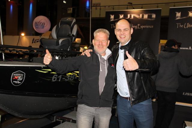 Het was een gezellige beursdag met Hans Koopman en Michel Oostdijk.