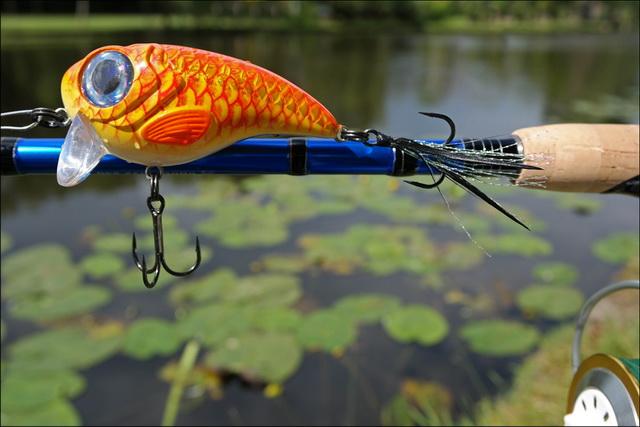 Een mooie plug voor het vissen tussen de waterplanten.