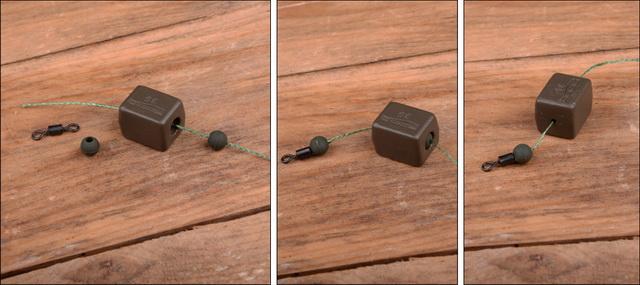 Hierna de rubberen stopper die je zo monteert dat je de grote opening over de wartel kunt schuiven.