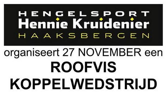 27 november Roofviskoppel wedstrijd bij Hennie Kruidenier.