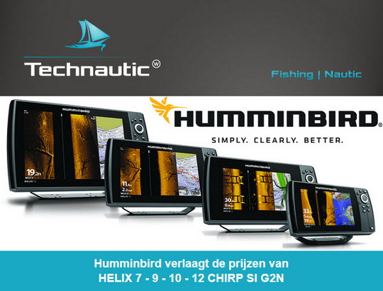 Humminbird verlaagt de prijzen van HELIX 7 – 9 – 10 – 12 CHIRP SI G2N