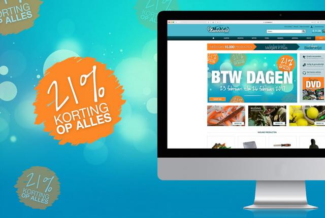Op onze webshop vind je meer dan 16.000 producten! En alles tegen een korting van 21%