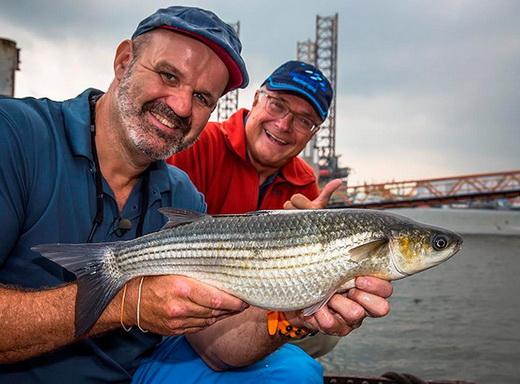Ed & Marco op het Sportvisserij Nederland Paviljoen tijdens de Visma.