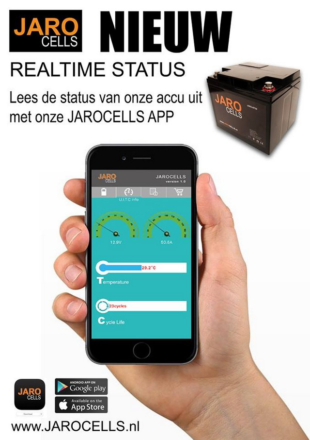 Gemak dient de mens: via de app lees je de belangrijkste info van je accu...