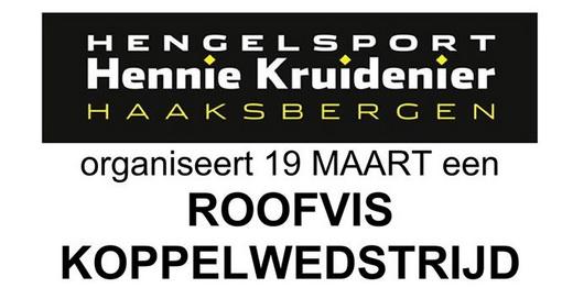 19 maart Roofviskoppel wedstrijd bij Hennie Kruidenier.