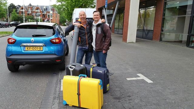 Dennis Horvath en Dominique Kleijwegt Verdoes onderweg.