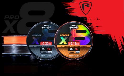Nieuw de Fox Rage Pro X8 performance braid
