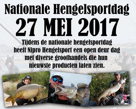 Zaterdag 27 Mei open deur dag Nipro Hengelsport