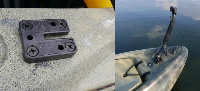 Mighty Mount ideaal voor bijvoorbeeld camera of fishfinder.