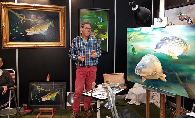 Ook kunstschilder Remko van den Berg toonde zijn mooiste creaties