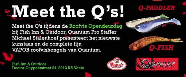 14 april Roofvis opendeurdag bij Fish Inn met Quantum.