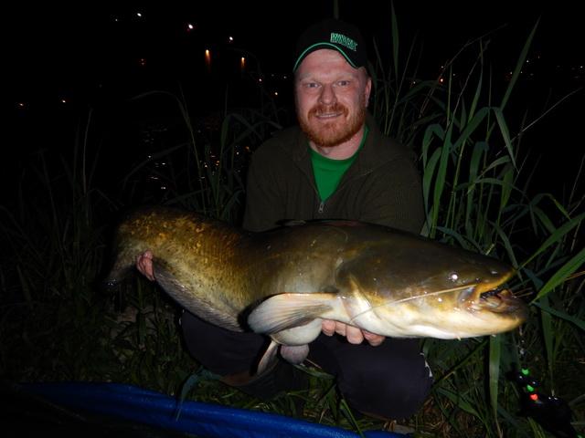 Mooie vangst in de nacht.