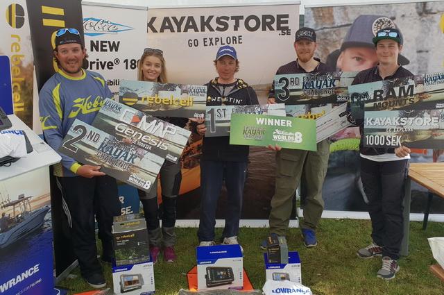 Yes!! winnaar van de East Coast Kayak Challange 2018 gehouden in Glan, Zweden.