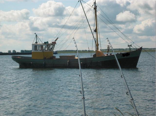 Beroepsvisserij en sportvisserij op een water