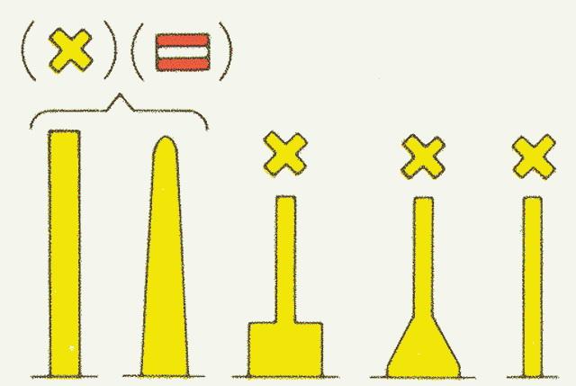 Afbeelding gele betonning met A1 topteken