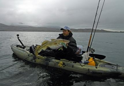 Vega een waar paradijs voor de Kayak visser in Noorwegen.