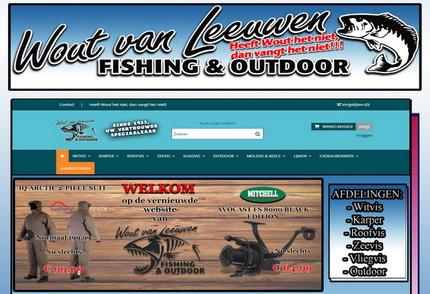 De vernieuwe webshop van Wout van Leeuwen Fishing & Outdoor!