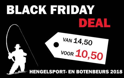 Bestel je tickets tijdens de Black Friday deal van de Hengelsport- en Botenbeurs 2018
