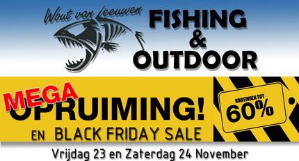 Mega opruiming en Black Friday Sale bij Wout van Leeuwen Hengelsport