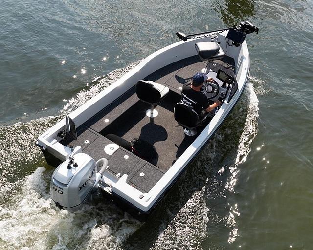 Indeling van de Orka Blackfish 500 console