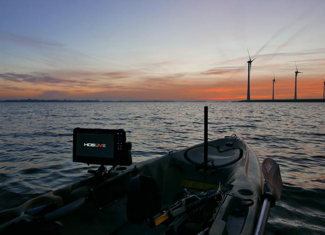 Klaar voor een nieuw avontuur met de Lowrance HDS 9 Live met de 3 in 1 Active Imaging transducer.