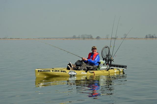 Johan van Kooten in actie tijdens het KayakCentre Fishing Tournament 2019