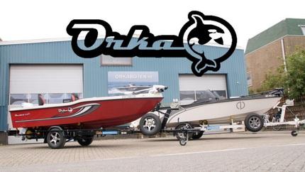 Alle modellen Orka Boten aanwezig op de Hengelsport & botenbeurs Utrecht