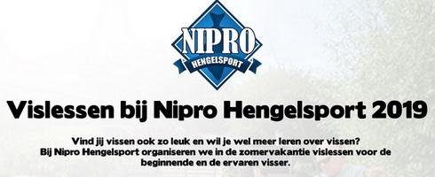 Vislessen 2019 voor de jeugd bij Nipro Hengelsport.