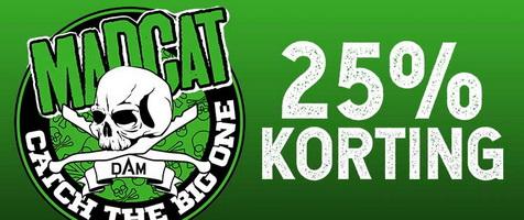 25% Korting op alle Madcat producten bij Hengeldiscount.