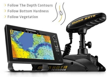 Humminbird Autochart Live en Follow the contour.