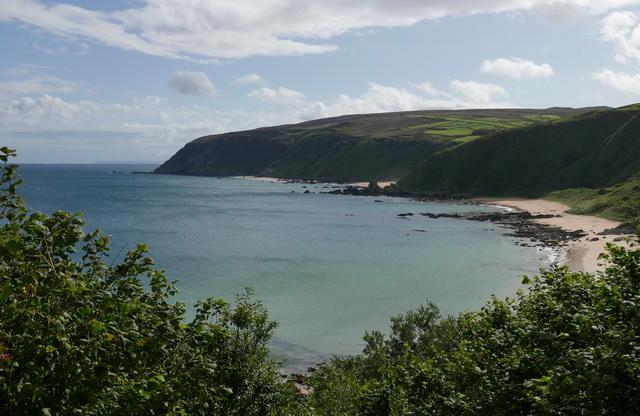 Donegal Ierland met zijn karakteristieke hoge kliffen en zand stranden.