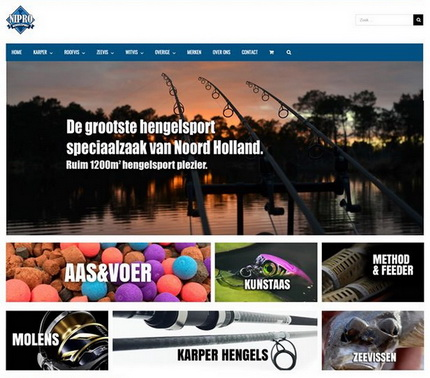Nieuwe webshop Nipro Hengelsport online. 15% korting aanstaande zondag!