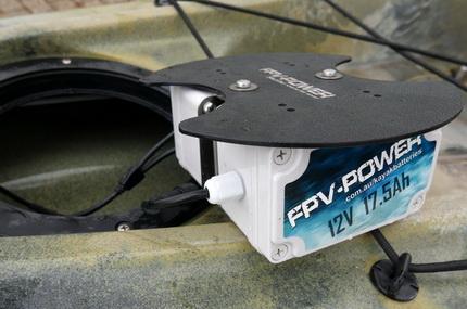 Lithium Ion accu voor de Hobie kayak!