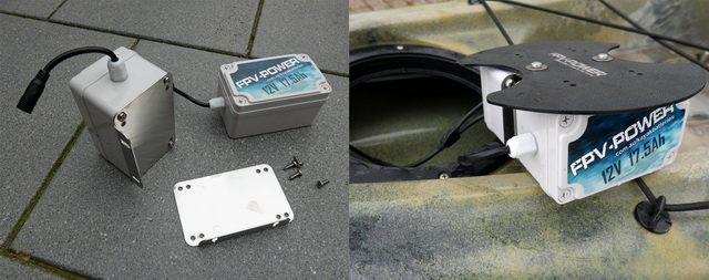 Berley pro heeft een montage kit om twee FPV Lithium Ion accu's naast elkaar te monteren.