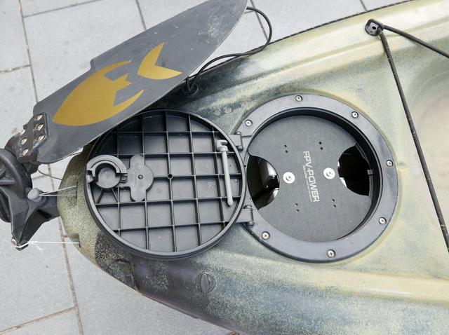 Dankzij Berley Pro de perfecte manier om één of twee FPV Lithium Ion accu's in je Hobie kayak te monteren