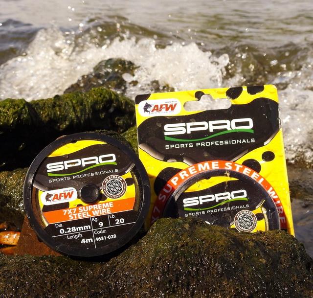 7x7 Supreme Steelwire is het resultaat van een samenwerking tussen SPRO en American Fishing Wire.