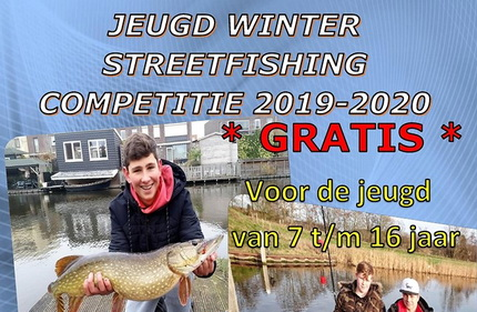 Inschrijving geopend Jeugd Winter Streetfishing