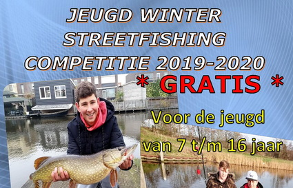 Gratis Jeugd Streetfishing Winter Competitie 2019 – 2020