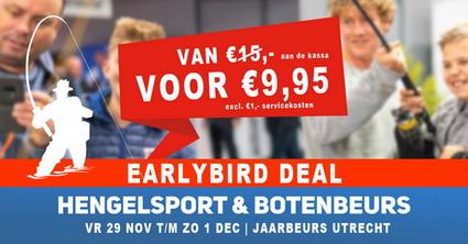 Laatste kans! Boek nu jouw ticket met €5,- korting voor de grootste Hengelsport- en Botenbeurs van Europa Jaarbeurs Utrecht.
