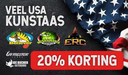 Profiteer, bijna al het USA Kunstaas 20% korting!