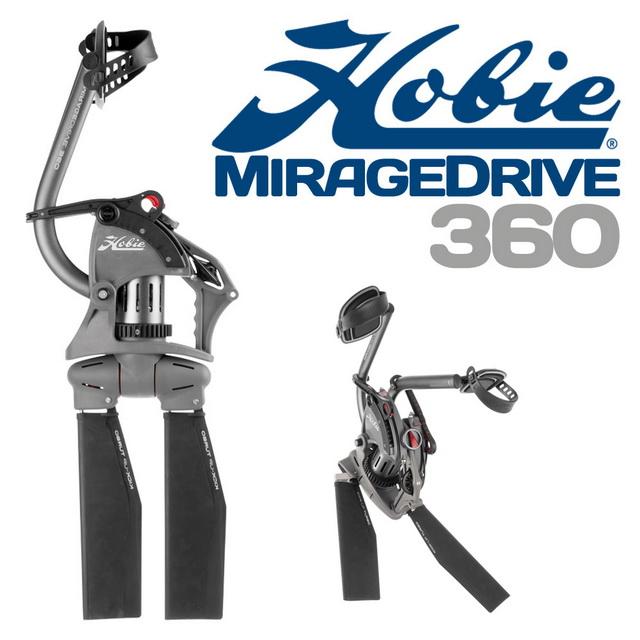 De nieuwste versie van het aandrijving gedeelte van de kayak. is de Hobie MirageDrive 360.