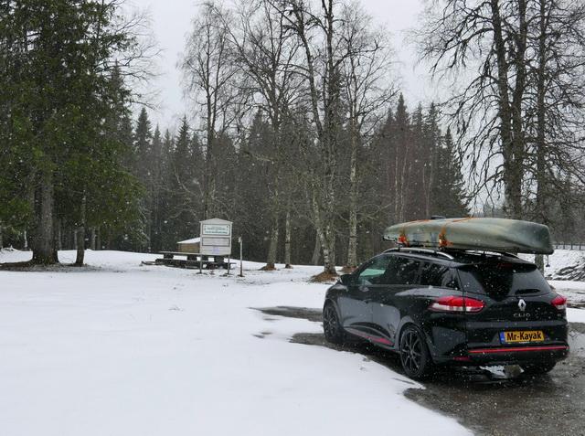 Winterse toestanden onderweg richting het noorden.