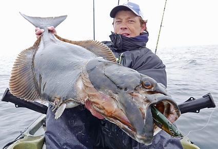 Kajakvissen in Noorwegen op heilbot met Daniel vd Post! Deel2