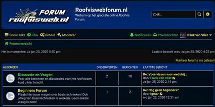 Kijk ook eens mee op het nieuwe RoofviswebForum.