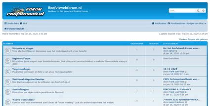 Het RoofviswebForum is weer online! Word nu lid!