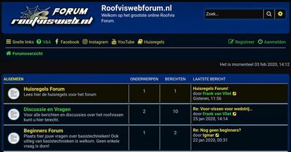 Registreer je nu voor een proefabonnement van 1 maand op het RoofviswebForum