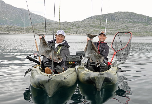 Het kan allemaal!, zelfs vissen op heilbot in Noorwegen behoord tot de mogelijkheden.