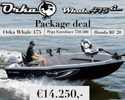 Package deal van de Orka Whale 475.