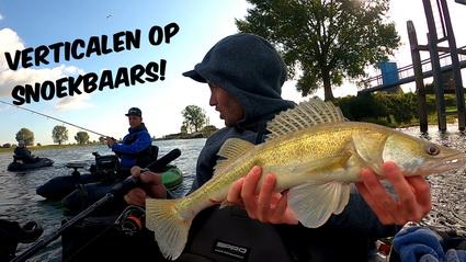 Video Verticalen op snoekbaars vanuit de bellyboat!