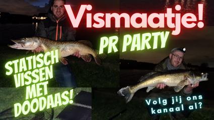 Video Vismaatje. Wij vangen allebei een nieuwe PR!